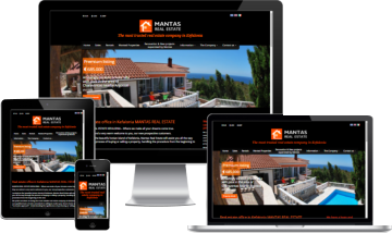 Mantas Real Estate in Kefalonia - Ανανέωση site από την G&G